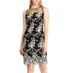 NWT $175 Ralph Lauren Womens 6 Lace Sheath dress